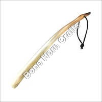 Bull Shoe Horn With Leather Tip Handle