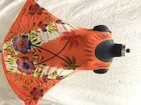 Ladies brush print umbrella dress