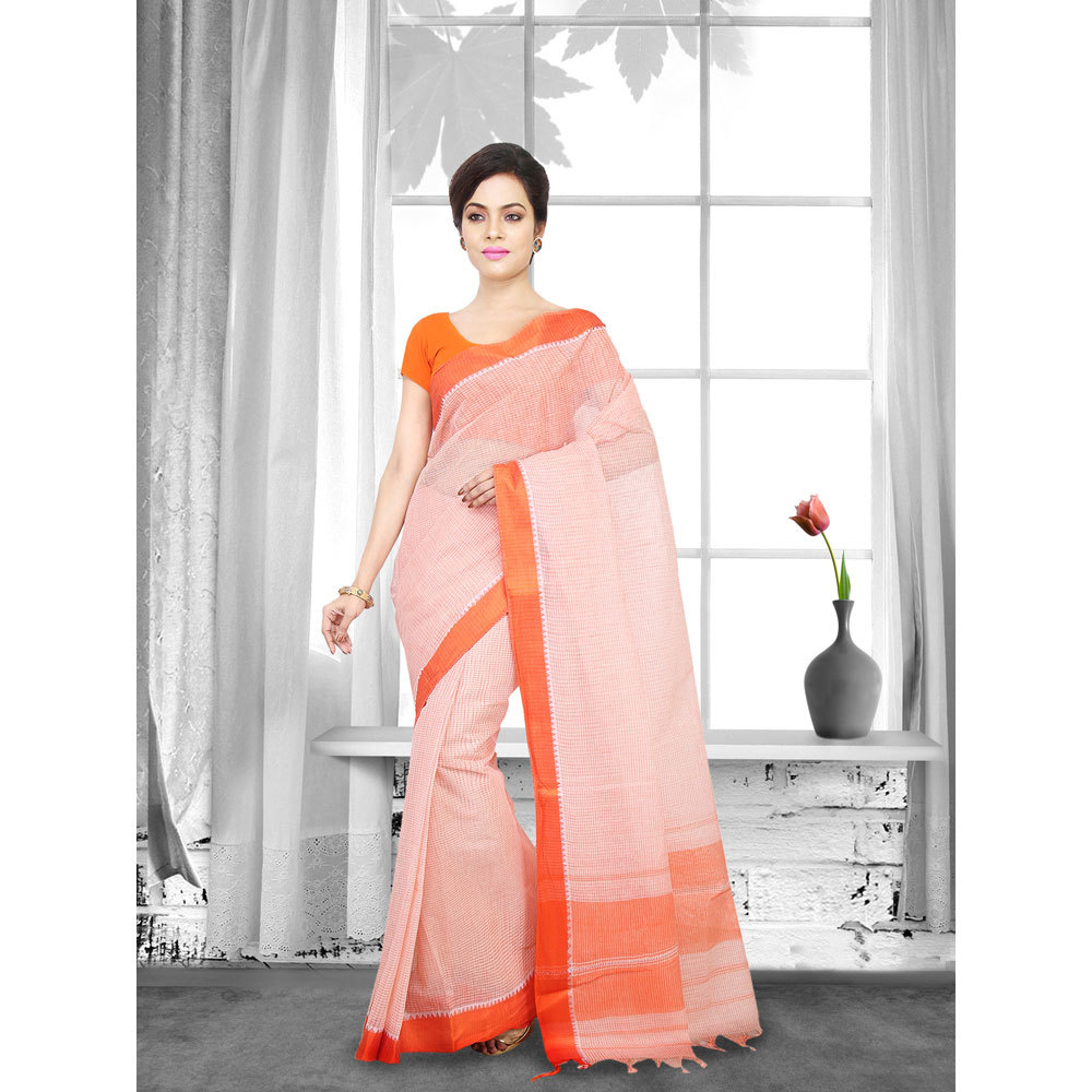 Ladies Woven Cotton Tant Saree