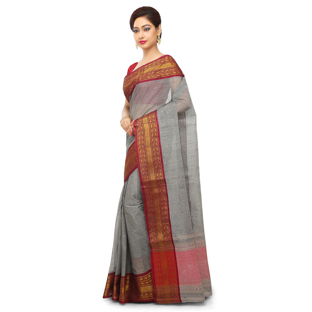 Ladies Multicolor Woven Tant Designer Cotton Saree