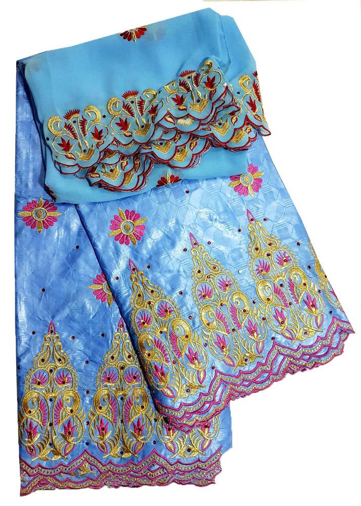 Designer Bazin Embroidery
