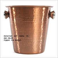 Large Copper Ice Bucket