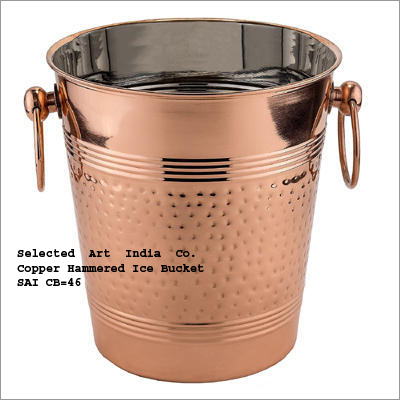 Copper Ice Bucket With Handles
