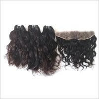 Raw wavy lace frontals