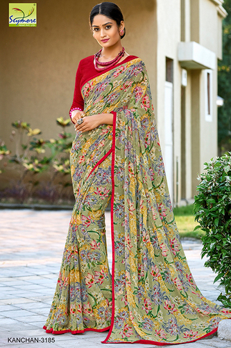 Fancy Piping Border Saree