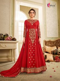 Beautiful anarkali emboidery work suits online