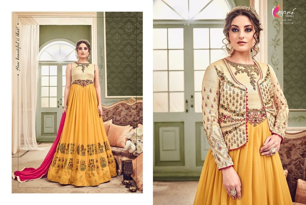 ae25bc1db2 Party wear heavy designer gown style suit online india - H K FASHION,  356-57, GOLDEN PLAZA MARKET, RING ROAD, , Surat, India