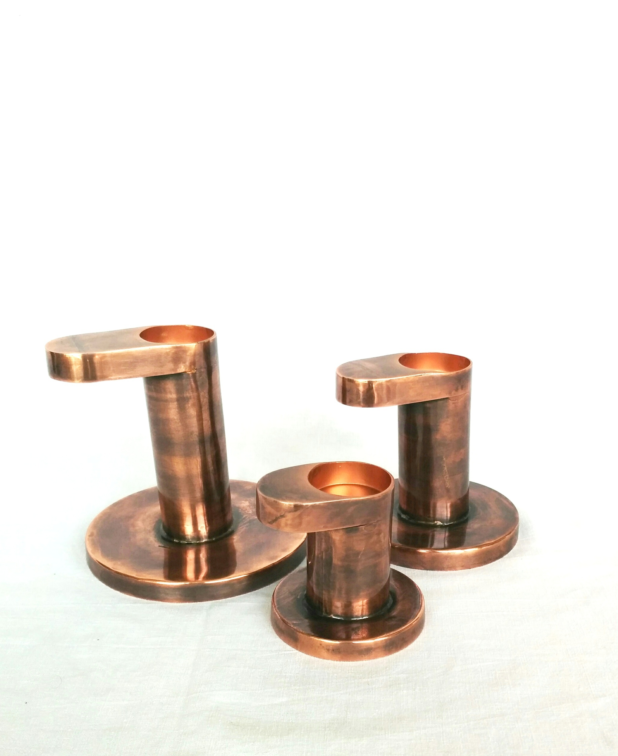 Copper Cylindrical Vase