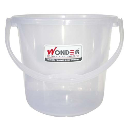 WONDER PLASTIC TRANSPARENT BUCKET 18