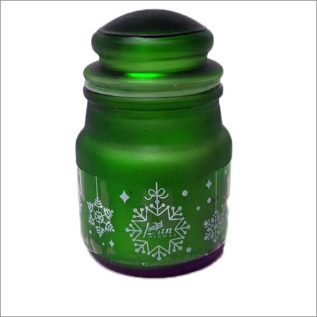 Coloured & Frosted Jar Candle