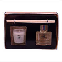 Reed Diffuser Candle Gift Set Sandalwood Vanilla