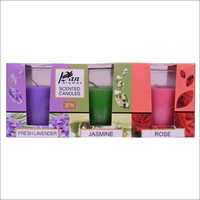 3 Pack Shot Glass Candle