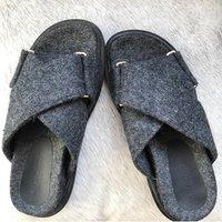 Crisscross Felt Sandal