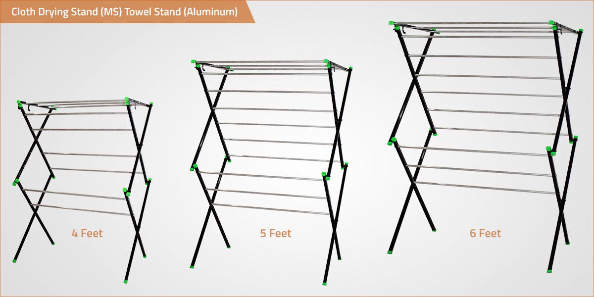 ALUMINIUM ROD Cloth Drying Stand