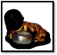 Baby Monk Buddha Tea Light