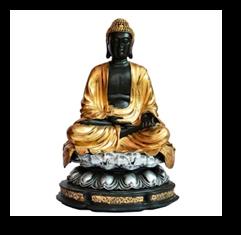Buddha Sitting on Big Lotus