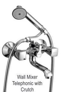 Wall Mixer Bath Telephonic with Crutch