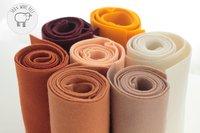 100% Wool Color Felts