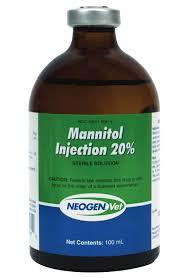 Mannitol 20 mg and 100 ml