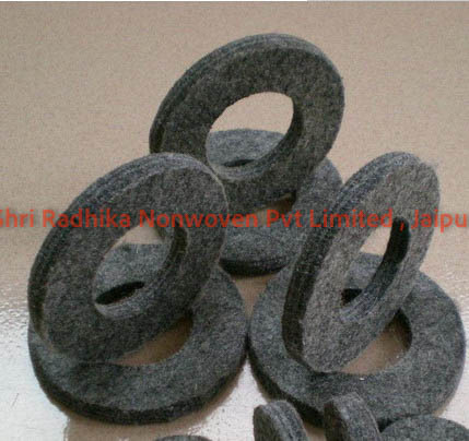 Wool Felt Grey Washer Ring
