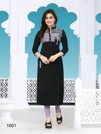 Designer long cotton kurtis