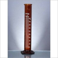 Measuring Cylinders, AMBER, H-Base, Class A
