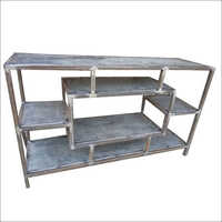 Wrought Iron Multi Shelves Unit