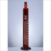 Measuring Cylinders, Amber, H-Base, Stoppered, Nabl