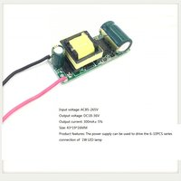 Built-in Led Driver Power Supply 6-10x1w Input Ac85-265v Output Dc18-36v/300ma±5%