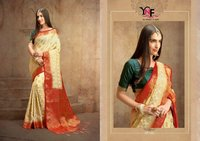 Indian designer banarasi soft silk sarees