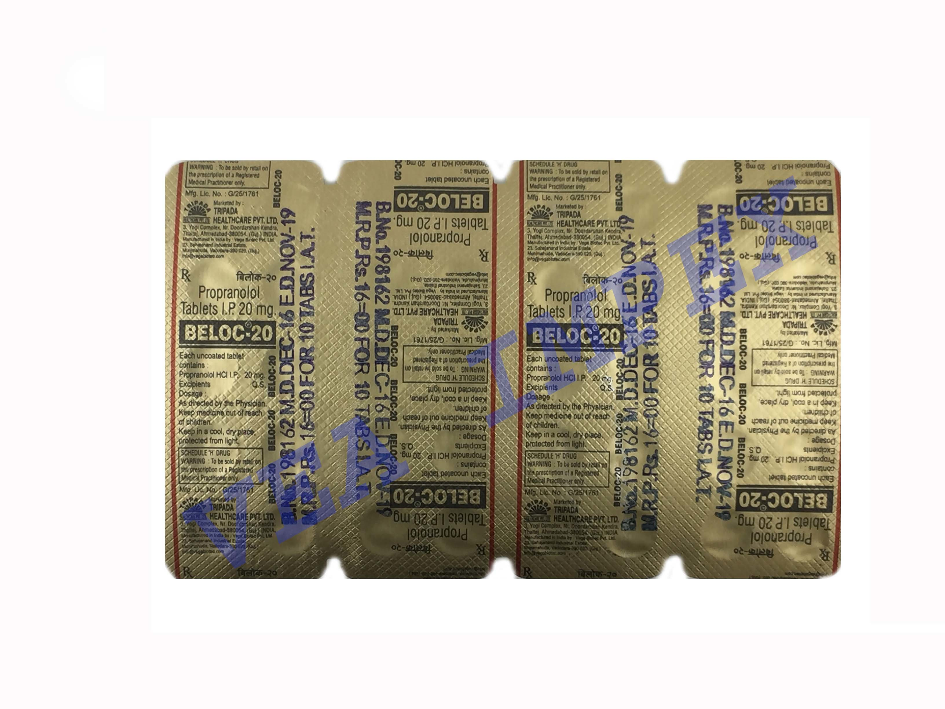 BELOC TABLETS 20 mg