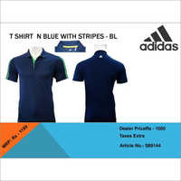 Back Logo Navy Blue Adidas T Shirt