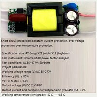 Built-in Led Driver Power Supply 7-13x2w Input Ac85-277v Output Dc21-48v/450ma±5%