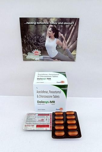 Aceclofenac 100mg + Paracetamol 325mg + chlorzoxazone  250mg