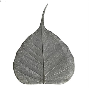 Silver Plated Pipal Leaf