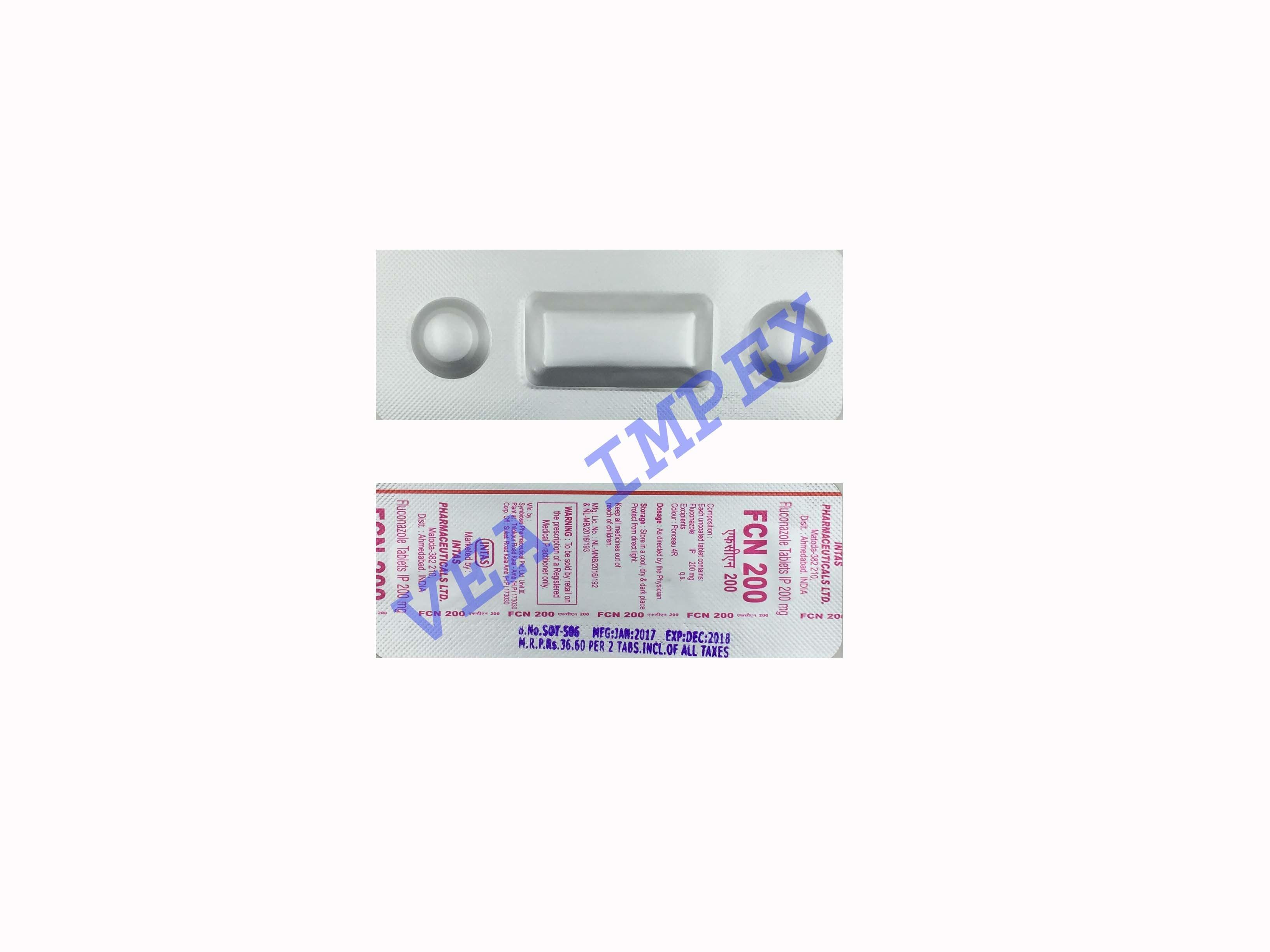 FCN 200mg(Fluconazole Tablets)