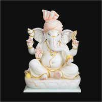 White Marble Ganesh Ji Statues