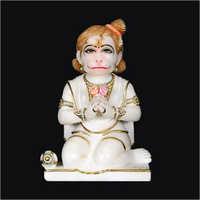 White Marble Hanuman Ji Statues