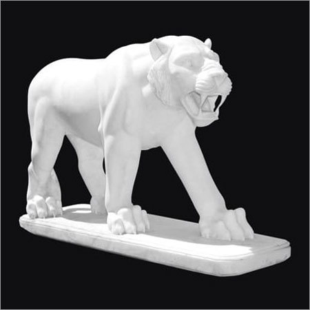 Marble Tiger Statues