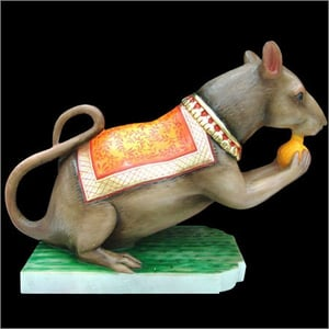 Marble Mouse Statues