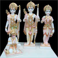 White Marble Ram Darbar Statues