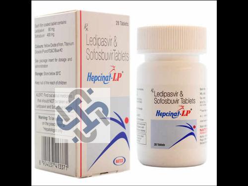 Hepcinat LP Ledipasvir 90mg Sofosbuvir 400mg Tablet