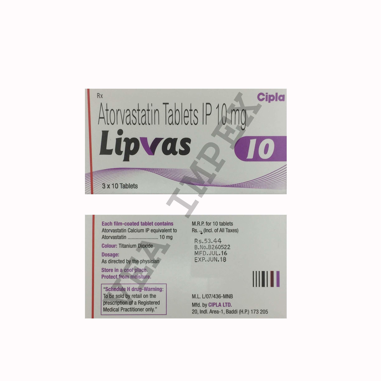 Lipvas 10 mg(Atorvastatin Tablets)