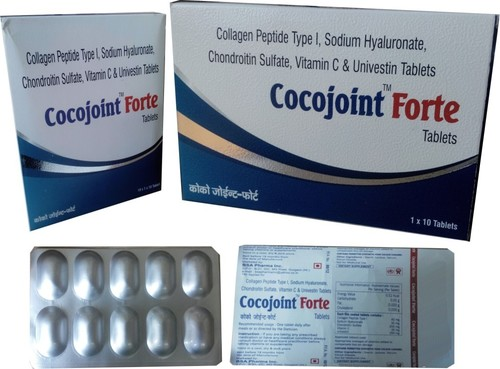 Collagen peptide,Sodium Hyaluronate,Chondroitin Sulfate and Vit C tabs.