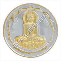 Mahavir Bhagwan Golden Polish Coin