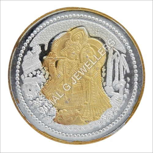 Radha Krishna Golden Polish Coins