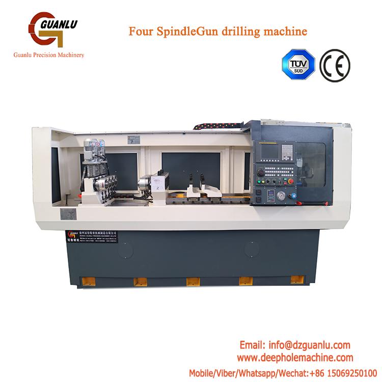 CNC Four spindle Gun drilling Machine