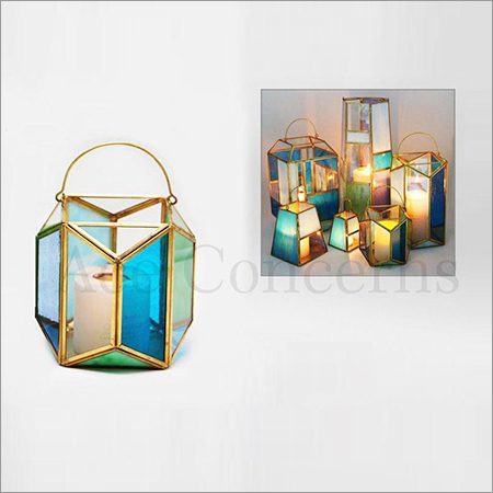 Glass Antiquities Candle Holder