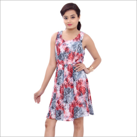 Ladies Sleeveless One Piece Dress