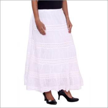Ladies White Skirt